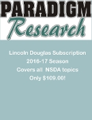 Lincoln Douglas Topic Analysis Subscription 2017-18